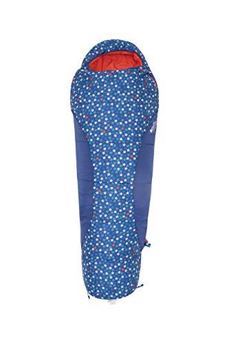 Mountain Warehouse Apex Mini Deckenschlafsack mit Muster. Frühling & Sommer Kinder Schlafsack. Jugend Kleinkind Festival Camping Urlaub Pyjamapartys Dunkelblau