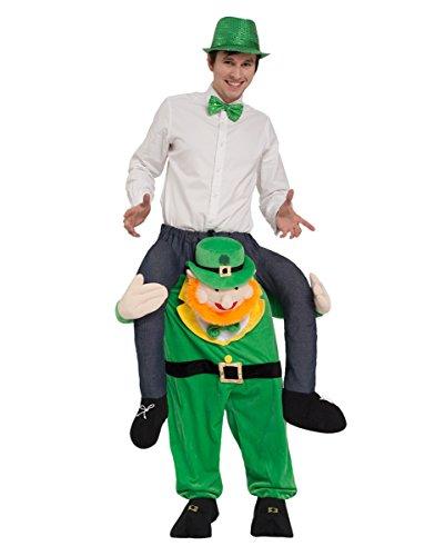 Irischer Kobold als Carry Me Kostüm für St. Patricks Day & Fasching One (Kobold Kostüm Paar)
