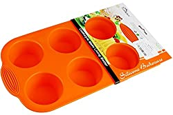 Cookstyle 6 Cups Non-Stick Silicone Mould Tray Bakeware for Home Use (Random Color)