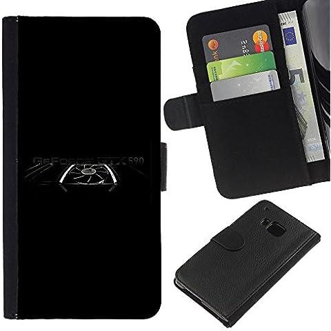 Grafiche Power, a portafoglio con porta carte di credito, in pelle sintetica, custodia protettiva a portafoglio per HTC One M7
