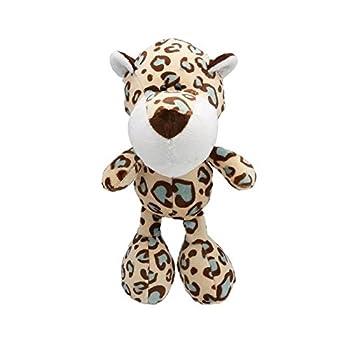 Jouet stable de mastication durable de mastic de Furrybaby de jouet de chien de grincement durable pour le chiot (Léopard tacheté)