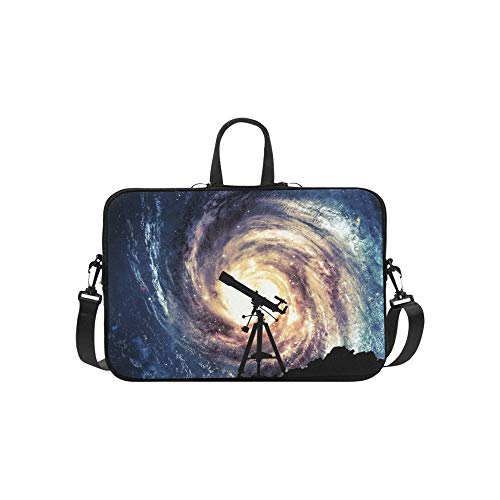 Silhouette Telescope Briefcase Laptop Bag Messenger