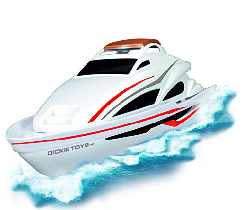 Dickie Toys 201119551 Sea Cruiser, ferngesteuertes, RC Speed-Boot, Ready to Run, 2,4 GHz, 34 cm, weiß