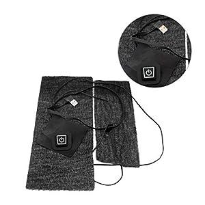 Hook.s Faser Heizmatte, USB Carbon Wiederaufladbare Elektrische Heizkissen/Tuch / Kleidung/Weste Gesundheit Kniepolster Gürtel Heiztuch – 5V