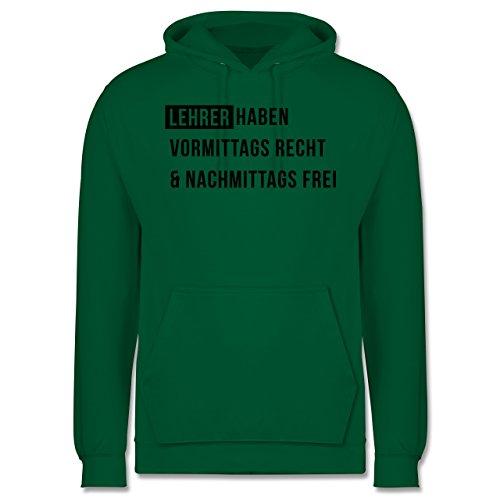 Lehrer - Vormittags Recht & nachmittags frei - Männer Premium Kapuzenpullover / Hoodie Grün