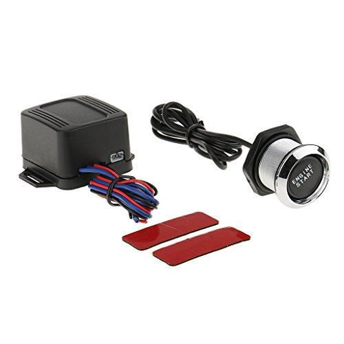 Gazechimp 12v Voiture Camion Moteur Démarrage Bouton Poussoir Allumage Démarreur Kit LED Facile à Installer - Lumière Bleu