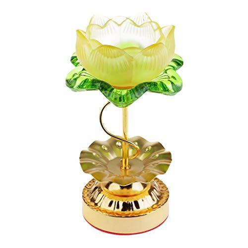 WSJTT Lotus Candle Stand Holder Kandelaber Taper Kerzenhalter.Ideales Geschenk für Hochzeiten, Zuhause, Party, Spa, Reiki, Votive Candle Gardens O4 (Günstige Taper Kerzen)