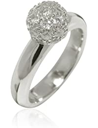 Rafaela Donata Damen-Ring Argento Classico Sterling Silber Zirkonia weiß 60800202