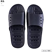 fankou Water Bath Slippers Female Summer Home Stay in The Bath Fast Dry Couple Anti-Slip Soft Bottom Exposed Cool Slippers,39-40, Black