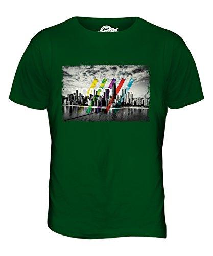 CandyMix Chicago Skyline Herren T Shirt Flaschengrün