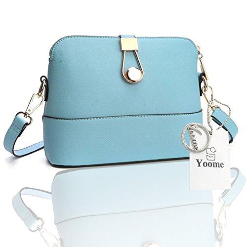 Sacchetti di frizione di fascino del sacchetto di lusso del Retro Retro Retro modello di Yoome per le ragazze casuali delle borse per le donne - azzurro Blu