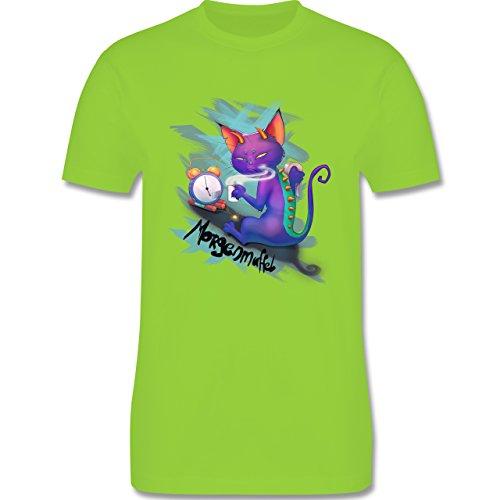 Statement Shirts - Morgenmuffel - Herren Premium T-Shirt Hellgrün