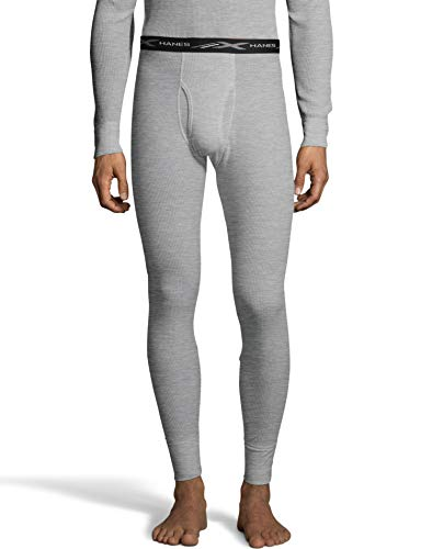 Hanes Mens Waffle Knit Thermal Pant 3X-4X (125446) -Heather GR -3XL -
