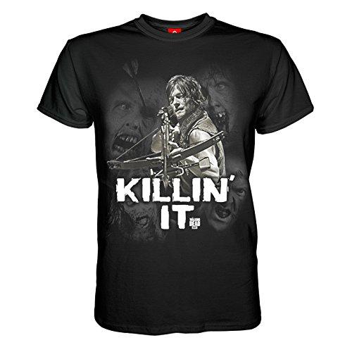 King of Merch - Herren T-Shirt - The Walking Dead Killin' It Daryl Dixon Rick Grimes Glenn Carl Carol Abraham Morgan Maggie Michonne Sasha Zombies Apokalypse TV Serie AMC Kult (T Zombie Shirt Apokalypse)
