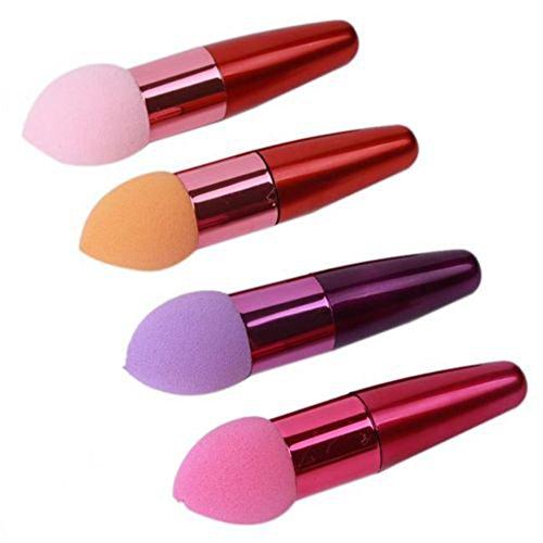 2X Eponge de Maquillage Mélangeur Houppe à Poudre Forme Goutte d'Eau