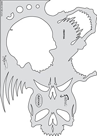 Artool Skull Master Feehand Airbrush Templates by Craig Fraser 7 in. x 9 3/4 ...