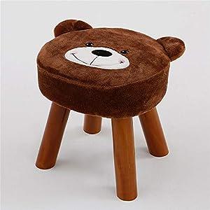 YUMUO Süße Cartoon Ottoman,bär Fußhocker Niedlich Designed Hocker Beistelltisch Hocker Stuhl Vielseitig Für Zuhause Garten Wohnzimmer D 32 * 29 * 32cm