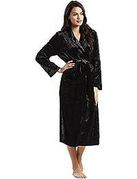Feraud 3181214-10995 Women s Couture Black Solid Colour Velvet Dressing  Gown Loungewear Bath Robe Robe a86e6025d