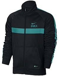 Nike M Nsw Jkt Pk Cre - Chaqueta línea F.C. Barcelona para hombre, color negro, talla XL