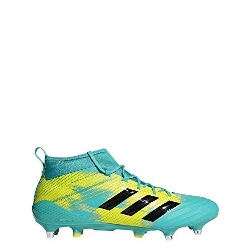 adidas Predator Flare (SG), Scarpe da Rugby Uomo, Blu Hiraqu/Cblack/Shoyel, 46 EU
