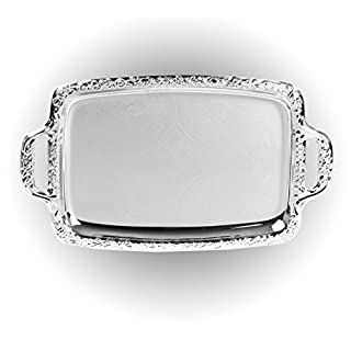 Silver Effect Mirror Polished Serving Tray