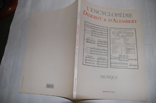 Musique par Denis Diderot, Jean d' Alembert
