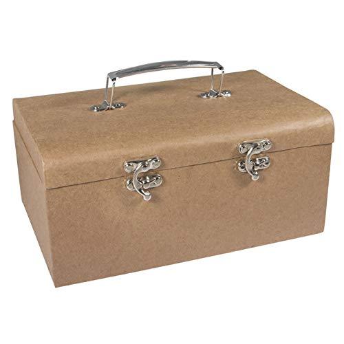 Creative Discount Pappmaché Koffer mit Metallgriff