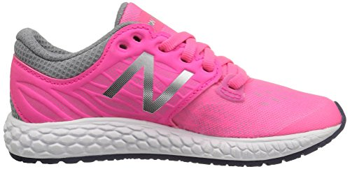 New Balance Kjzntupg M Fresh Foam Zante V2, Baskets Basses Mixte Enfant Multicolore (Pink/grey)