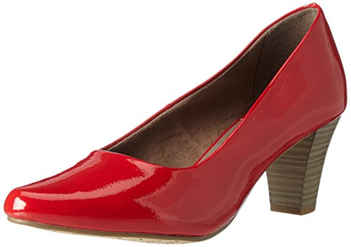 Tamaris Damen 22423 Pumps, Rot (Chili Patent), 39 EU