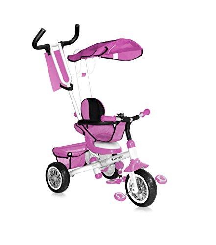 Lorelli b301b Mitwachsendes Dreirad für Baby/Kinder 1-4Jahre, rosa
