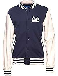 "UCLA Homme Blouson d'université (Varsity Jacket) veste polaire Marin (Large Chest 40-42"")"