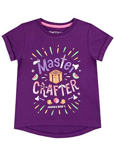 Minecraft Mädchen T-Shirt 128 (Minecraft Kinder T-shirts)
