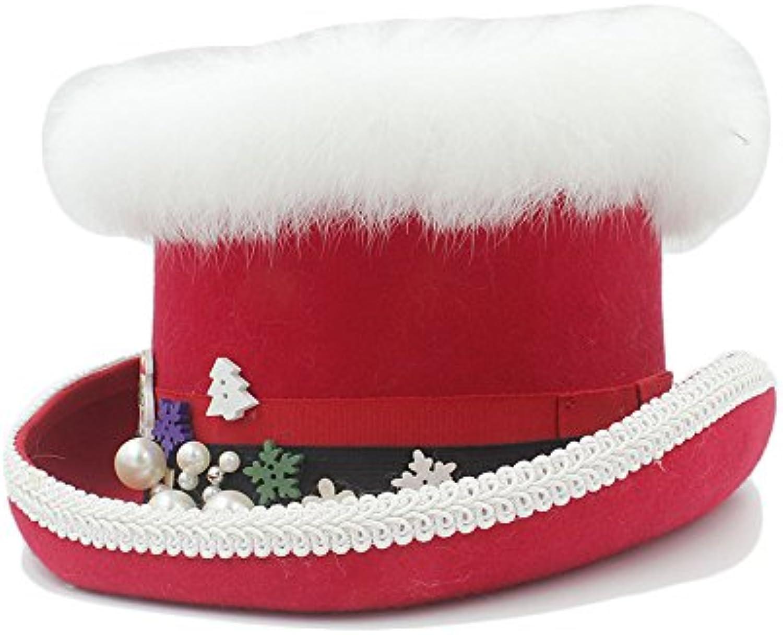 Easy Go Shopping Cappello di Steampunk Lana Steampunk di di Natale con  Rosso e verde per Le Donne (Coloreee Rosso e6a71ff76326