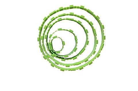 Lobacoo – 5-teiliges Silikon-Backformen-Set für kreatives Backen, 5,11,16,23,28 cm, rund, helles grün, BPA-frei, Antihaftbeschichtung, geschmacksneutral, z.B. Kuchenform, Tortenbodenform, Cupcakeform