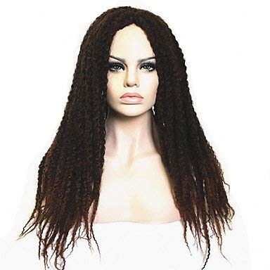 Frauen synthetische Perücke lange verworrene lockige Afro dunkelbraun/dunkel kastanienbraun schwarz dunkelbraun/mittel kastanienbraun Faux Dreads Afroamerikaner Perücke