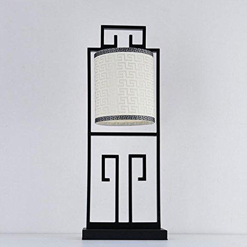 Rollsnownow Schreibtischlampe Tischleuchte Tischlampe Schreibtisch Licht Eisen Tuch schwarz weiß LED oder Glühlampe E27 Sockel Wohnzimmer Esszimmer Küche Studie und Schlafzimmer Bett -