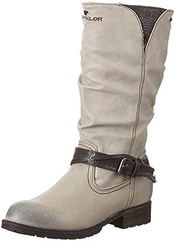 Tom Tailor Kids Mädchen 1670107 Halbschaft Stiefel, Weiß (Offwhite), 37 EU
