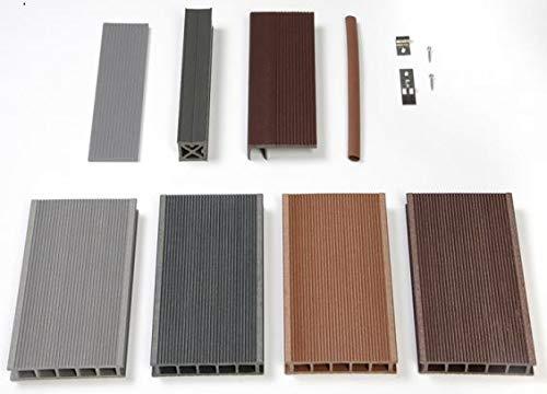 WPC Terrassendiele Hohlkammerdiele 123mygarden Muster Set diverse Farben und Zubehör -