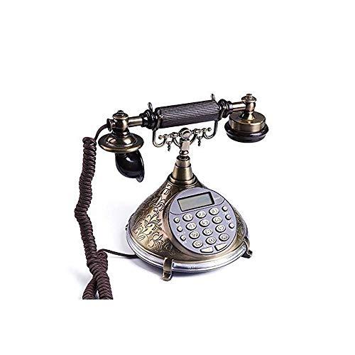 TBTUA Europäisches antikes Retro-Festnetztelefon Festnetztelefonbüro Festes Telefon Anrufer-ID Kabelsitz Festes Telefon - Kunden-id-nummer