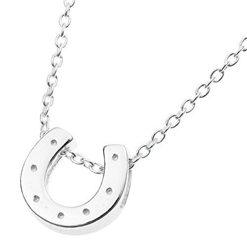 Charm-Halskette mit Hufeisen-Anhänger Sterling-Silber 925 40,6 cm + 2,5 cm Verlängerung