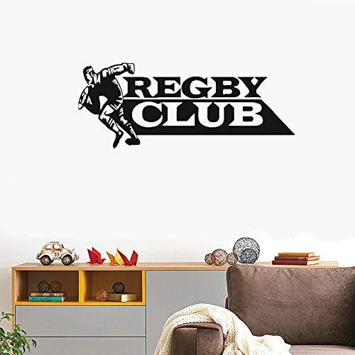 wandaufkleber 3d Wandtattoo Wohnzimmer Rugby Fußball Rugby League Footy Team Sport Aufkleber Wandkunst Dekor für Wohnzimmer Schlafzimmer -
