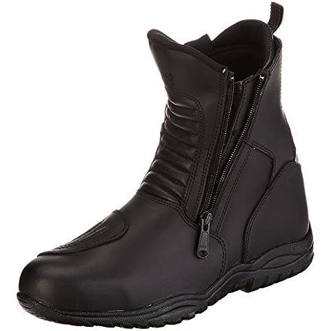 Protectwear TB-ALN - Botas de motorista de media caña (talla 44), color negro