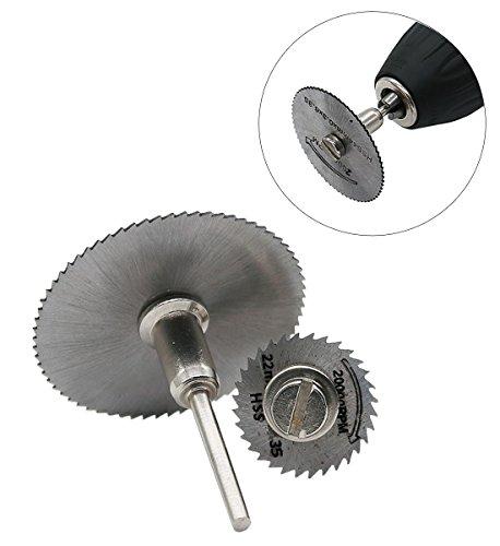 T wilker 7pcs hoja de sierra circular HSS vio la herramienta rotatoria Dremel Cuchillas discos de corte Adecuado para la Madera  plástico  fibra de vidrio  cobre  aluminio y metal Hoja delgada