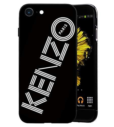 KENZ0 Logo Coque iPhone 7/8 Plus - Housse de Protection en Silicone Rigide Anti-Chocs avec Technologie de Coussins d'air Étuis iPhone 7/8 Plus Coque UltraRock Séries - Noir