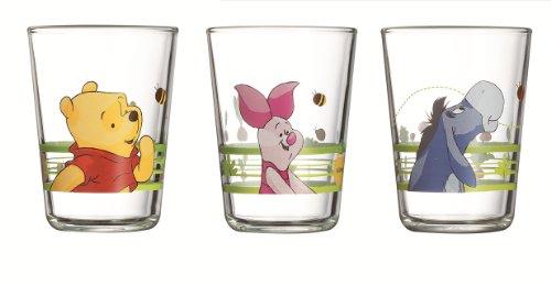 Luminarc, Serie Winnie the Pooh, Kinderbecher 3er-Set, mit farbenfrohem Design