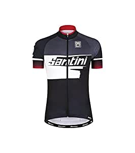 Santini Fashion FS94275ATOM2 - Santini Atom 2 UV protection Short Sleeve Jersey Red Medium