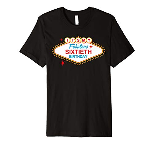 Las Vegas Schild Fabulous 60. Geburtstag T-Shirt