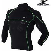 Shirt manica lunga da uomo a compressione strato base muscolare linea Tight T Camicie LR