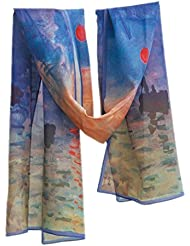 Prettystern P133 - 160cm Impression Malerei Kunstdruck Seidenschal - Claude Monet - Sonnenaufgang (Sunrise)