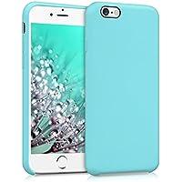 kwmobile Funda para Apple iPhone 6/6S - Case para móvil de TPU silicona - Cover trasero en menta